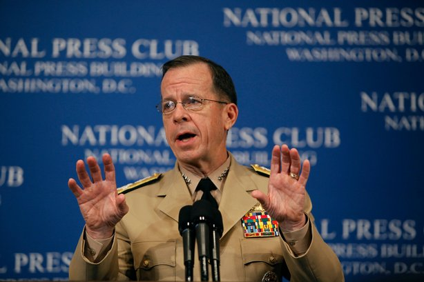 Chairman of the Joint Chiefs of Staff Admiral Mike Mullen delivers remarks ab...