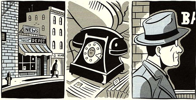 Panel from graphic novelist Seth.