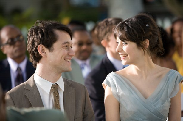"Joseph Gordon-Levitt and Zooey Deschanel in ""(500) Days of Summer"""