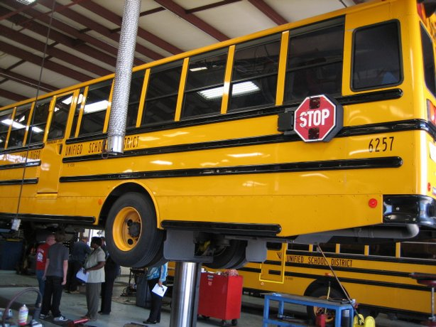 San Diego Unified's school buses are being retrofitted to reduce diesel pollu...