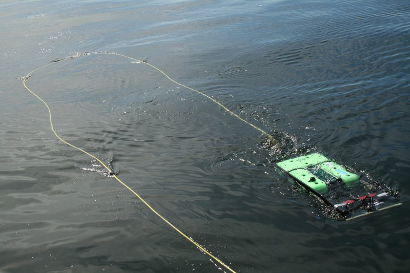 A remotely-operated vehicle or ROV will be used by The Nature Conservancy for...