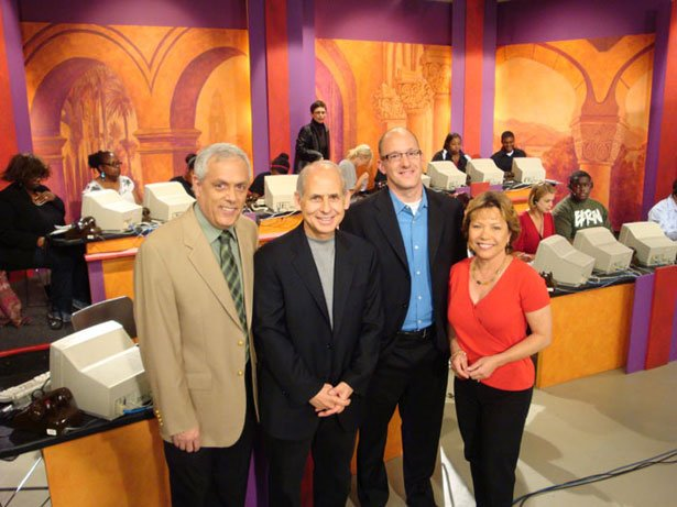 Dr. Daniel Amen (2nd from left) live in the KPBS Studio during a membership c...