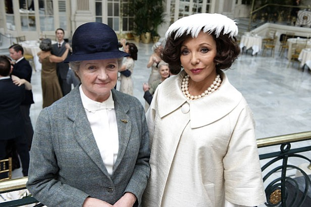 Julia McKenzie (left) as Miss Marple and Joan Collins (right) as Ruth van Ryd...