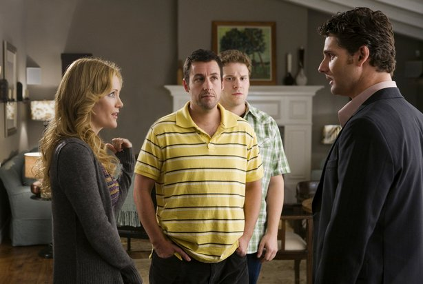 """Leslie Mann, Adam Sandler, Seth Rogen and Eric Bana in Judd Apatow's """"Funny P..."""