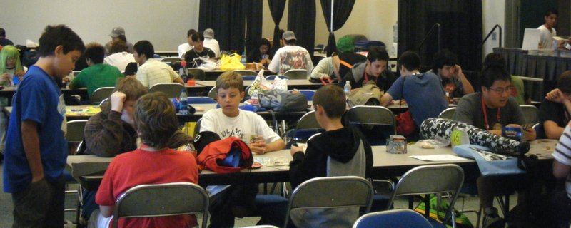 Players battle at the Pokémon Tournament, one of the most popular youth event...