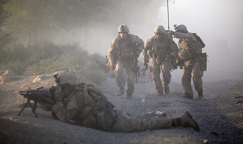 Marines with the 2nd Marine Expeditionary Brigade, RCT 2nd Battalion 8th Mari...