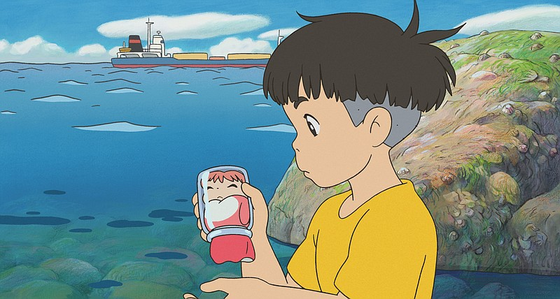 Sousuke finds a golfish trapped in a jar in