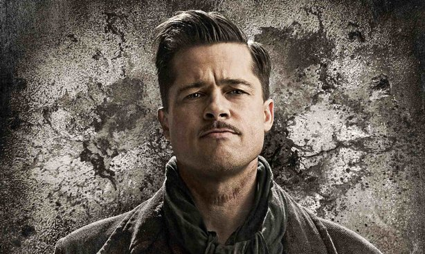 "Brad Pitt toplines ""Inglourious Basterds"" although he's not onscreen much"