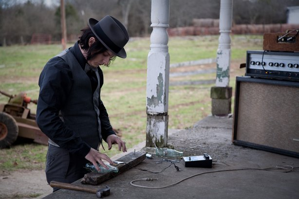 "Jack White makes a guitar in the opening of ""It Might Get Loud"""