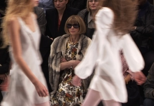 "Anna Wintour (Editor-in-Chief, Vogue) in ""The September Issue,"" a film by RJ Cutler.  Courtesy of Roadside Attractions."