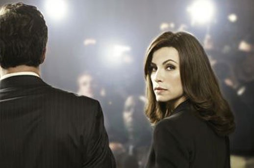"Julianna Margulies backs up Chris Noth in CBS's ""The Good Wife,"" airing Tuesd..."