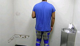 A 17-year-old male U.S. citizen was caught crossing the border with narcotics taped around his thighs and calves.