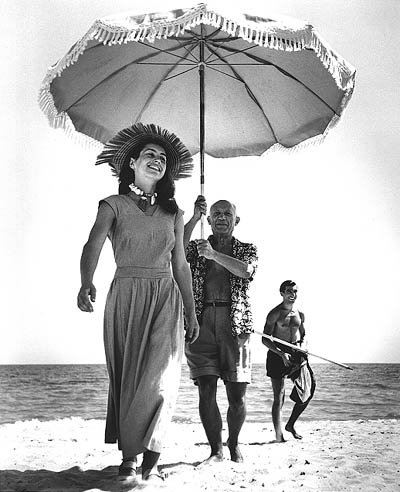 Françoise Gilot and Pablo Picasso in 1948.  Photographed by Robert Capa.