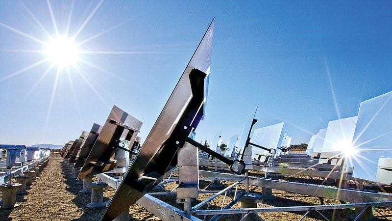 Sierra SunTower, a new solar facility in Lancaster, Calif., generates electri...