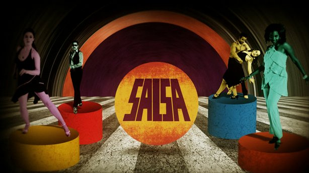 "Graphic design with dancers and text that reads ""SALSA"" by eatdrink and James..."