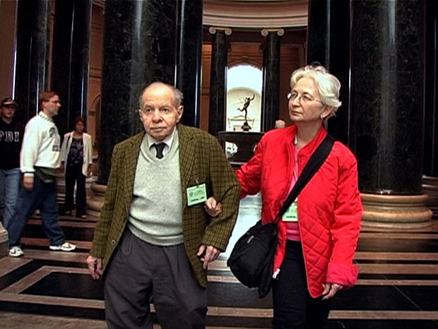 Herb and Dorothy visiting their honeymoon spot, the National Gallery of Art, ...