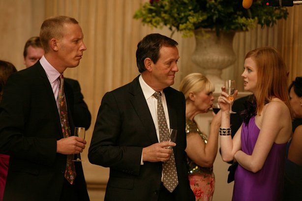 Pictured (l-r): DS James Hathaway (Laurence Fox), DI Robert Lewis (Kevin Whately) and Hope Ransome (Zoe Boyle).