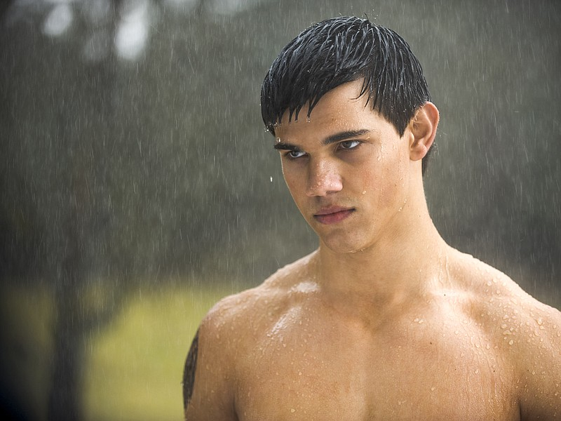 Hunky Taylor Lautner as the werewolf Jacob in