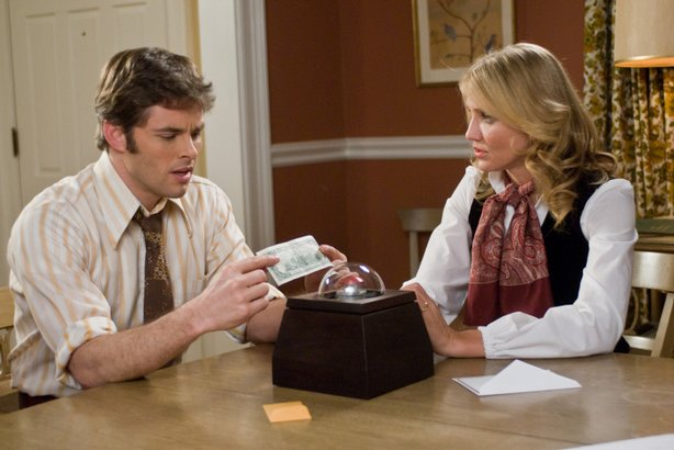 "James Marsden and Cameron Diaz in Richard Kelly's ""The Box"""