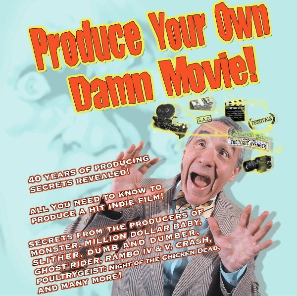 "Lloyd Kaufman's latest book, ""Produce Your Own Dam Movie"""