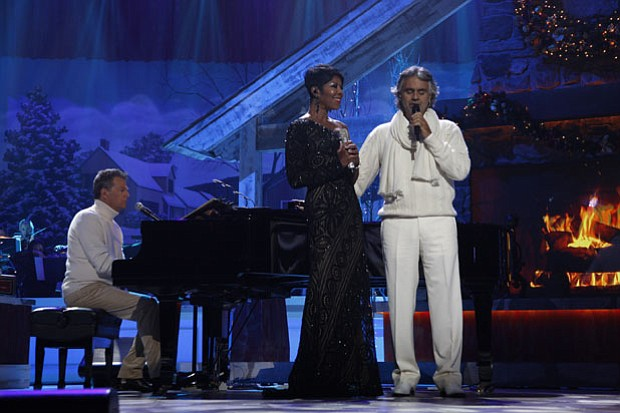 "Everyone's favorite ""Hitman"" David Foster (at piano) joins superstar tenor An..."