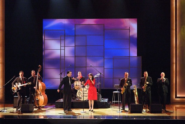 "Pictured: Royal Crown Revue in a neo-swing musical performance called ""Cool Y..."