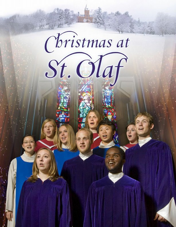 Ten St. Olaf Choir members. This Christmas special features the renowned choirs and orchestra of St. Olaf College in Northfield, Minnesota.