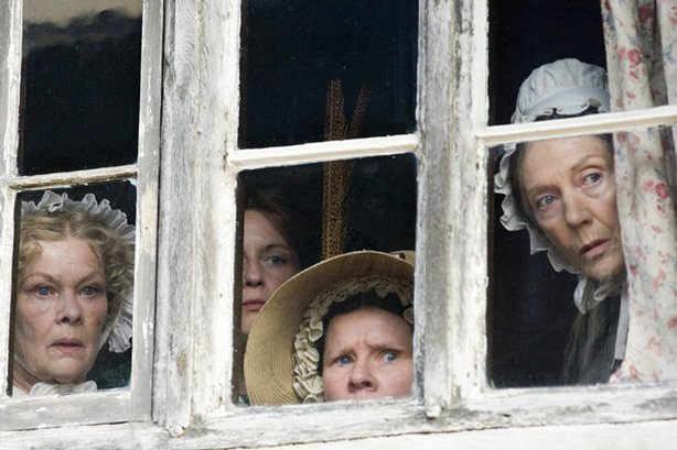 Shown (l-r): Dame Judi Dench as Miss Matty Jenkyns, Lisa Dillon as Miss Mary ...