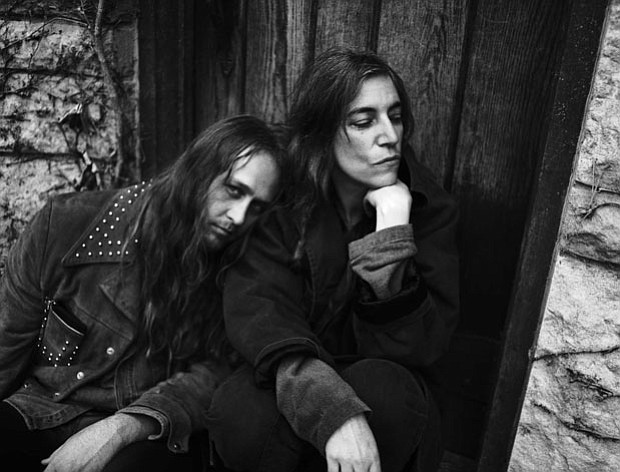 Steven Sebring and Patti Smith at their first meeting, Detroit, 1995.