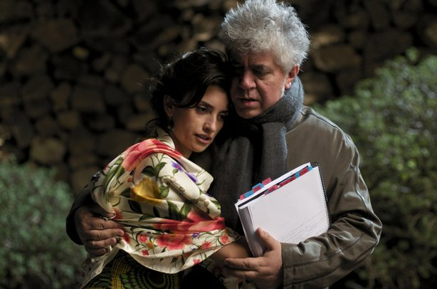 "The director and his muse -- Pedro Almodovar and Penelope Cruz on the set of ""Broken Embraces"""