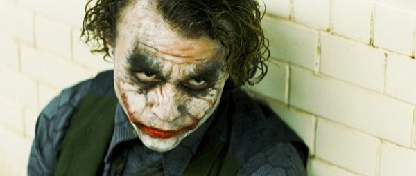 Heath Ledger as The Joker in