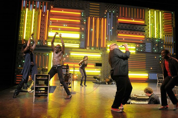 """The cast of """"Passing Strange"""" performs live on Broadway in 2008."""