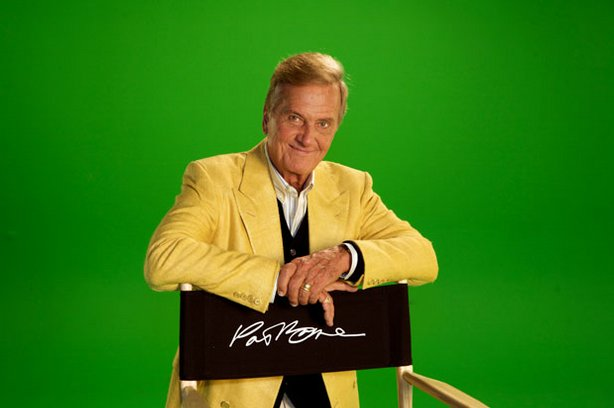 "Pat Boone on the set of ""Pat Boone: Love Letters In The Sands Of Time."""