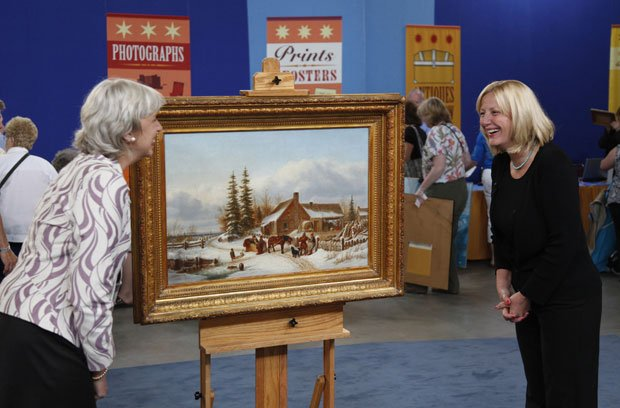 At ANTIQUES ROADSHOW in Atlantic City, this guest (right) brings in an heirlo...