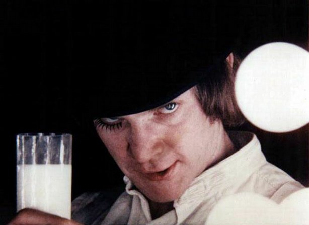 "Malcolm McDowell as Alex in ""A Clockwork Orange"""