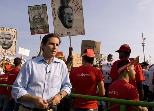 ABC News Correspondent Bob Woodruff in Cuba. Woodruff was the host of