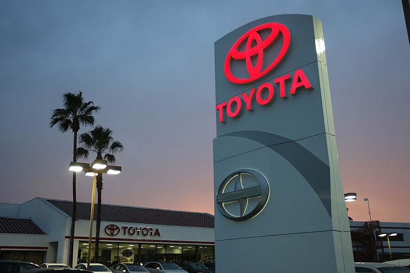 A Southern California Toyota dealership on January 26, 2010. Japanese auto-ma...