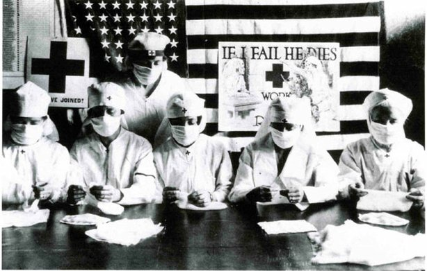 Terrified by the sudden death all around them, Americans sought protection from the dreaded influenza epidemic of 1918 with both traditional medical techniques, such as surgical masks, and folk remedies.