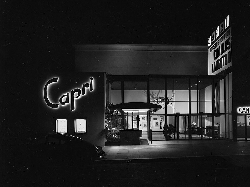 The Capri theatre, formerly on Park Boulevard in San Diego.  Photo by Julius ...