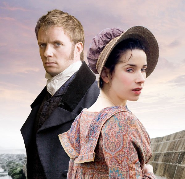 Sally Hawkins (right) appears as Anne Elliot, destined for spinsterhood at age 27 after being persuaded eight years earlier to refuse the proposal of dashing Captain Wentworth (Rupert Penry-Jones, left). Then chance brings them together again.