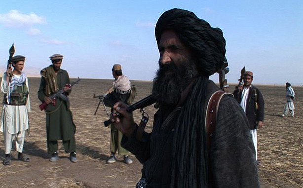 Commander Kalakub with Central Group insurgents in Baghlan province, northern...