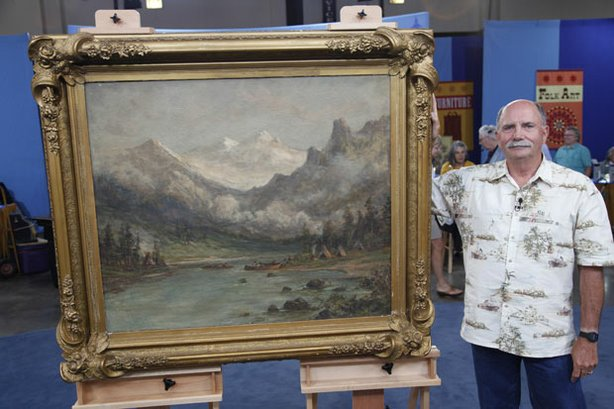 At ANTIQUES ROADSHOW in Madison, Wisconsin, this guest brings in a very large...