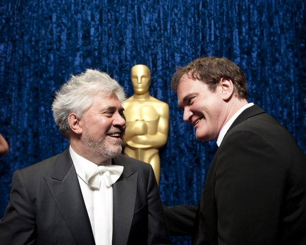 Pedro Almodovar and Quentin Tarantino were presenters for the Best Foreign Language Film last night.
