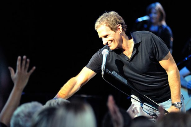 Michael Bolton performs live on stage at London's Royal Albert Hall.