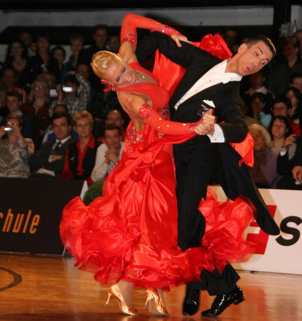 Dancers compete in the International Dancesport World Championship competitio...