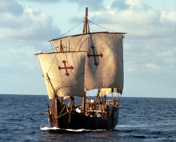 The replica of the Nina, which, together with the Santa Maria and Pinta, was built by the Spanish Navy in 1991.