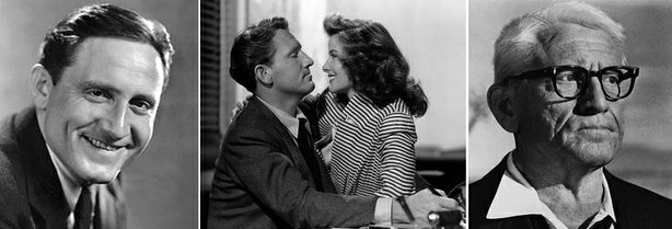 Actor Spencer Tracy - early studio publicity shot, with Katharine Hepburn in ...