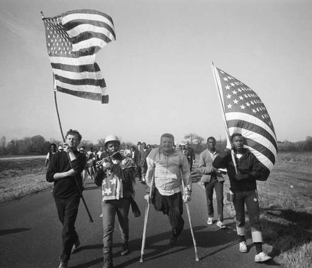 The climax of a 10-year struggle for equality - the march from Selma to Montg...