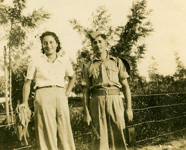 Hannah Senesh and a soldier, Palestine, 1943. Joan Allen narrates the first d...