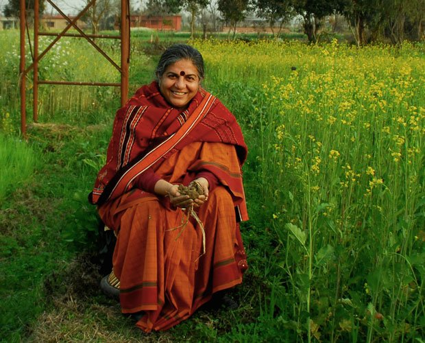 Physicist/environmentalist Vandana Shiva believes in soil not oil. Traveling ...